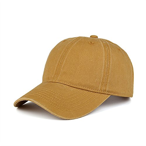Dyed Cotton Twill Low Profile Adjustable Baseball Cap (Yellow) ()
