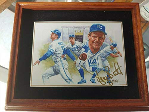 George Brett Authentic Hand Autographed Signed Plaque Royalty In Motioncoa JSA - Authentic Memorabilia