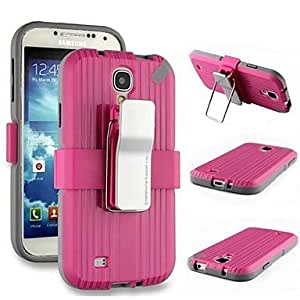 LIMME Fashion Back Clamp PC and TPU Hard Case with Stand for Samsung Galaxy S4 I9500 (Assorted Colors)