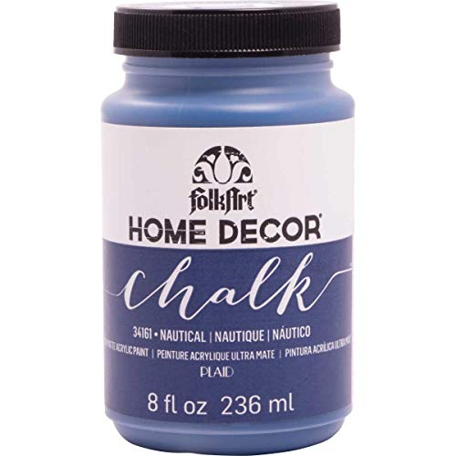 FolkArt Home Decor Chalk Furniture & Craft Paint in Assorted Colors (8 Ounce), 34161 Nautical (Best Navy Blue Paint Color)