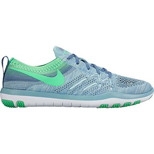 Nike Womens Free Tr Focus Flyknit Mica Blue / Electro Green 844817-402 (10)