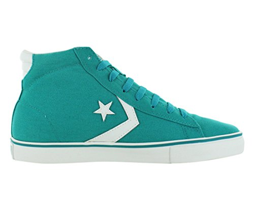 Converse Pro Leather Vulc Sneaker Mid Canvas Uomo Viridian Green 10 / Donna 11,5 M Us