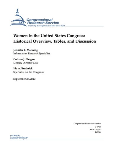 Women in the United States Congress: Historical Overview, Tables, and Discussion