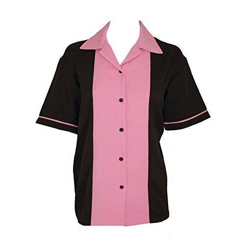 BeRetro Classic 50's Womens Retro Bowling Shirt Classic 50's - 5 Colors Pink
