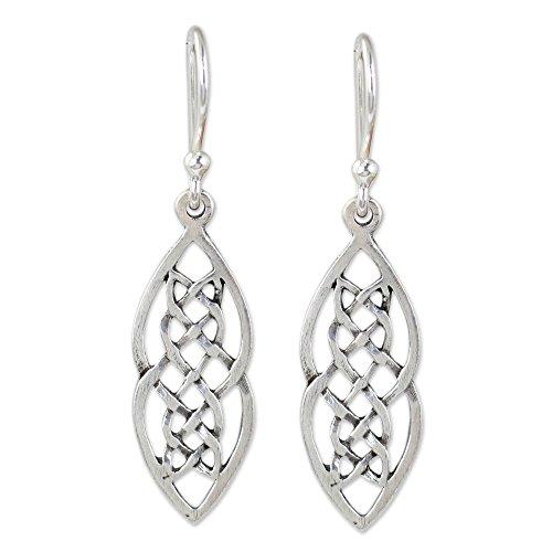 NOVICA .925 Sterling Silver Dangle Earrings