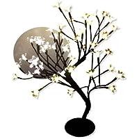 Luminária Arvore Flor de Cerejeira Led Abajur Flores Decoração Natalina Decoração de Quartos - BELLA NET (Branco frio)