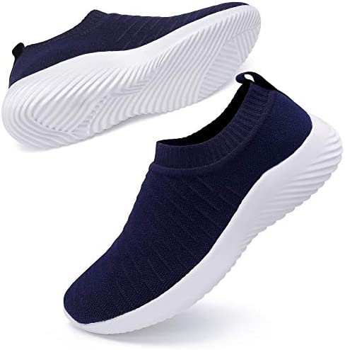 Ablanczoom Womens Walking Shoes Lightweight Elastic Sock Athletic Running Shoes Slip On Mesh Sneakers Comfort Work Shoe