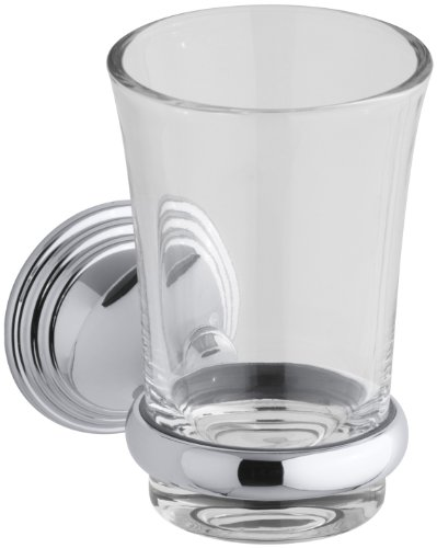 - KOHLER K-10561-CP Devonshire Tumbler and Toothbrush Holder, Polished Chrome