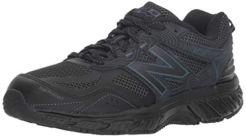 New Balance Women's 510v4 Cushioning Trail Running Shoe, black/thunder, 10.5 W US