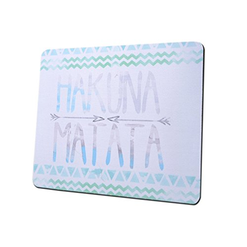 Gaming Mouse Pad Mat, 8 inch Non-Slip Rubber Mousepad , Silky Smooth Surface Edges for Computer ,Laptop& PC, 8 × 9 x 0.1 inches Rectangle,Hakuna Matata (Disney Laptop Accessories)