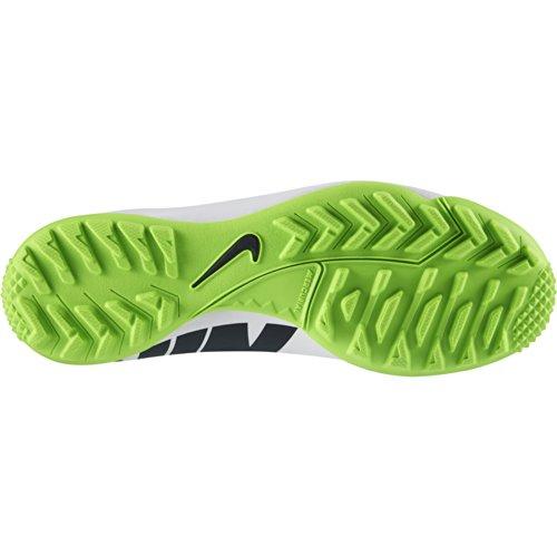 Nike JR Mercurial Victory IV TF - Botas de fútbol para niño, color blanco / negro / verde eléctrico