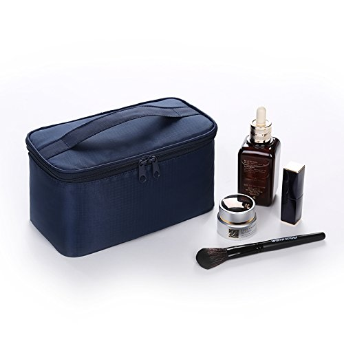 LULAN Travel cosmetic bag small portable admission package simple large vanity pack lovely hand bag,221212cm, dark blue