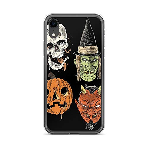 iPhone XR Pure Clear Case Cases Cover Say You Love Satan 80s Horror Podcast Logo 2 ()