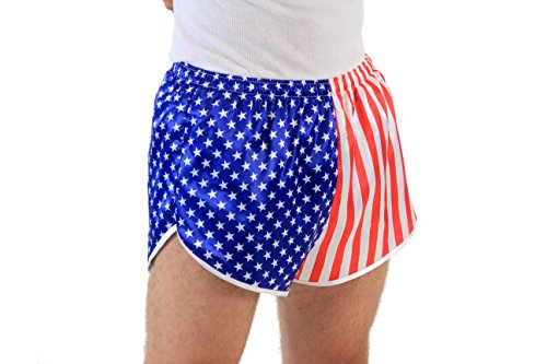 Flag Running Shorts - USA American Flag Running Shorts (Adult XX-Large)