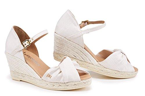 VISCATA Barcelona ArbuciesSilkIvory - Silk Wedding Sandals