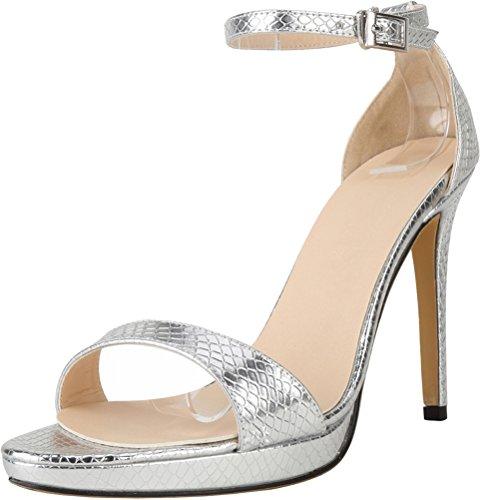 Salabobo Salabobo Sandales silver Compensées Sandales femme ppf5cwqr