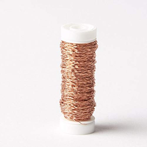 FloristryWarehouse Bullion Floristry Wire Reel 0.88 oz Copper