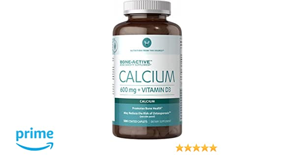 Amazon.com: Vitamin World Calcium 600 mg + Vitamin D3, 500 Caplets: Health & Personal Care