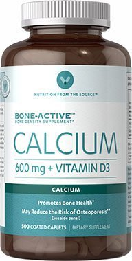 Vitamin World Calcium 600 mg + Vitamin D3, 500 Caplets