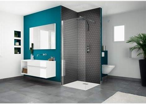 Kinedo Smart Solo 75 - Mampara de ducha fija con tratamiento ...