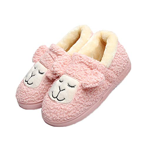 Sheep JadeRich Slippers Warm Fleece Indoor Cute Unisex Pink Boot rTwE1T