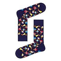Happy Socks, Colorful Premium Cotton Food Themed Socks for Men and Women, Ice Cream, Black, 10-13