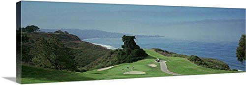 Canvas On Demand Premium Thick-Wrap Canvas Wall Art Print entitled Golf course at the coast Torrey Pines Golf Course San Diego California (Outdoor Furniture San Diego California)