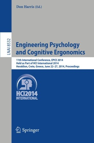 Engineering Psychology and Cognitive Ergonomics: 11th International Conference, EPCE 2014, Held as Part of HCI Internati