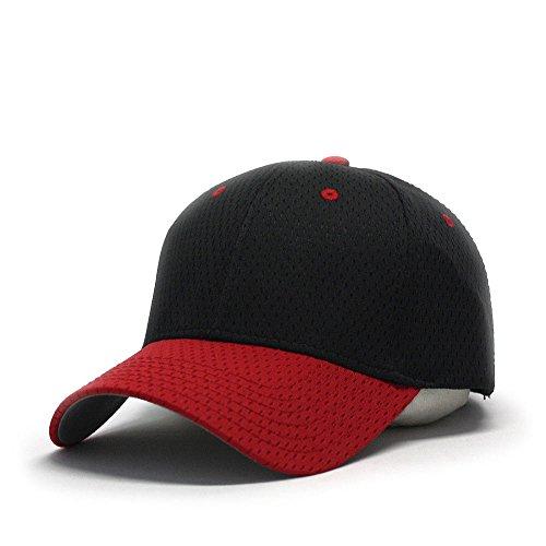 (Plain Pro Cool Mesh Low Profile Adjustable Baseball Cap)