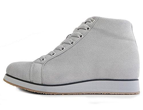 Mnx15 Zapatillas Elevadoras Para Mujeres AuHombresto De Altura 3.1 Monaco Grey Gris