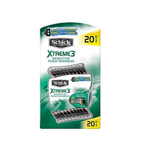 20-schick-xtreme-3-blade-sensitive-razor-with-vitamin-e-aloe