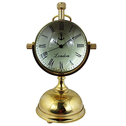 World globe clocks amazon retro round metal world globe table desk clock with handle indian home decor 5 inch gumiabroncs Image collections