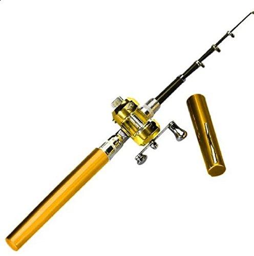 ミニポータブルpocket-size pen-shape合金材質釣りロッドポータブルポケットペン形状アルミ合金釣りロッドポールリール B076QGGJX9 B076QGGJX9, 池田洋品店:6ae1cce2 --- ferraridentalclinic.com.lb