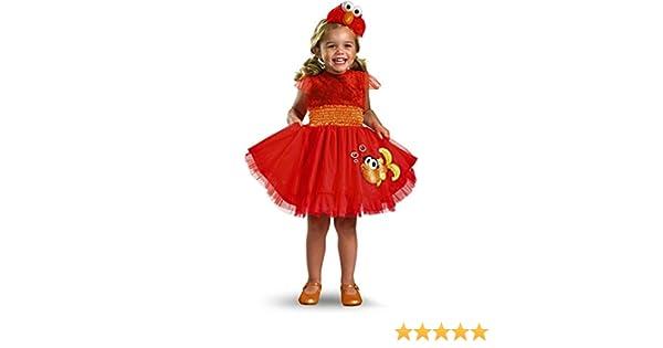 Disfraz con volantes Elmo bebé Cualquier día: Amazon.es: Juguetes ...