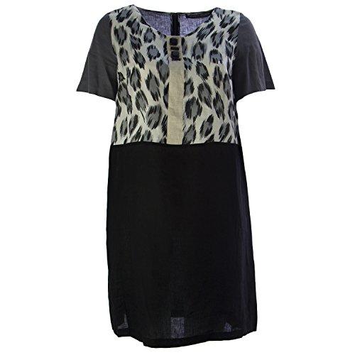 marina-rinaldi-dumas-linen-dress-grey-black-womens-size-18