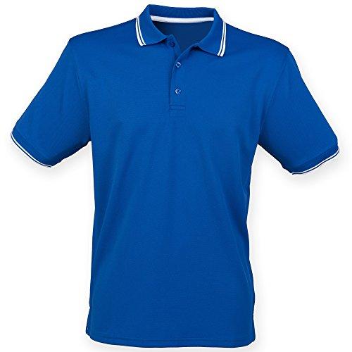 Bleu Polo Courtes Roi Manches Homme Henbury blanc À 1PH71wq