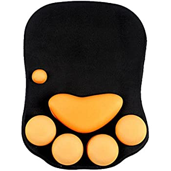 Cmhoo Mouse Pad with Wrist Support Cat Paw Soft Silicone Wrist Rests Wrist Cushion Computer Mouse Pad Mat Desk Decor(10.7×7.8 cat paw)