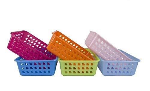 Premsons® Rectangular Plastic Storage Basket Organizer Fruits, Vegetables   Pack of 1  Colours May Vary  Shelf Baskets