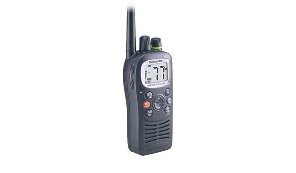 Raymarine - Ray 101E VHF - Radio para Barcos (Resistente al Agua, Cargador, Radio, portátil, Clip de cinturón), Color Gris: Amazon.es: Deportes y aire libre