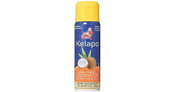 Kelapo Aceite de coco extra virgen, aerosol de cocción, lata ...
