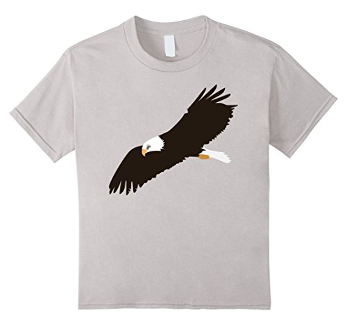 kids-awesome-bald-eagle-t-shirt-boys-girls-youth-child-6-silver