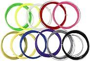 Garneck 10PCS Badminton Racket String Racquet Replacement Lines for Badminton (Random Color)