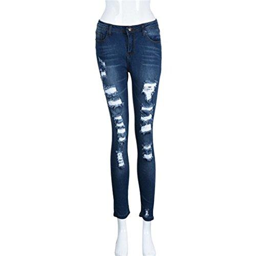 HN Ripped Distressed Slim Denim Pants Girls Jeans For Juniors Trousers ()