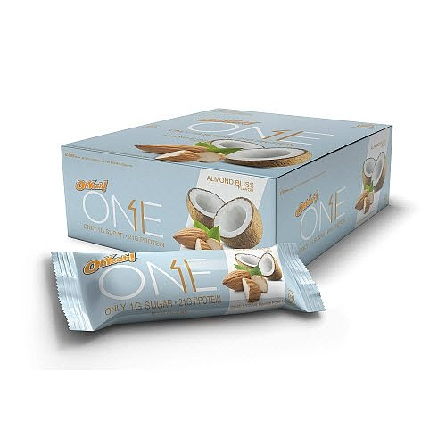 Oh Yeah! One Bar, Almond Bliss, 12 Count, 2.12 Oz. each (Pack of 24 Almond Bliss)