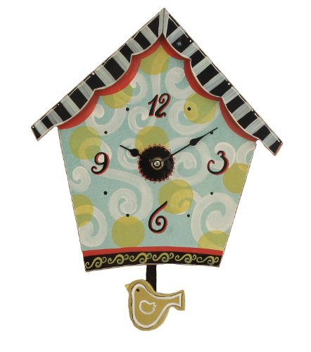 Youngs-Wood-Birdhouse-Wall-Clock-1125-Inch