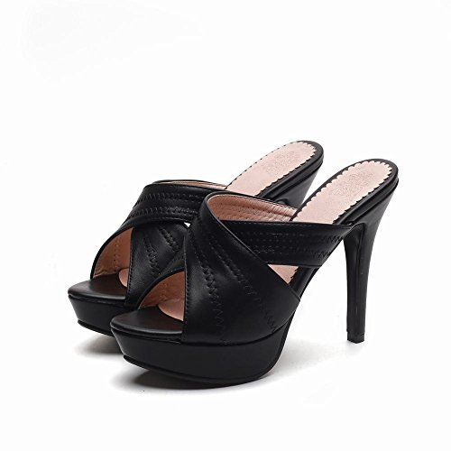 10ebaea09d6 Verkauf Brandneue Unisex YE Damen Offene High Heels Plateau Mules Slingback  Sandalen Stilettos Pantoletten Sommer Elegant