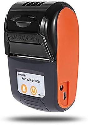Haihuic Mini Impresora térmica inalámbrica, Bluetooth USB portátil ...