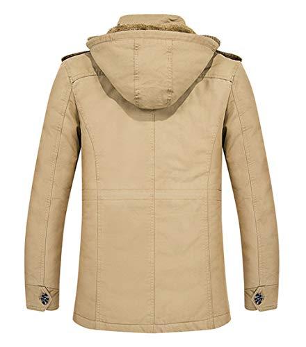 Parka Chaud Blouson En Noir Jacket Excellent Manteau Fourrure Coton Doublure Ruiyuns Style Longues À Épaisse Outdoor Veste D'hiver Homme Capuche Militaire zFpc0ET