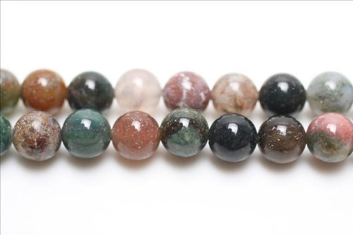 Strand Of 95+ Mixed Fancy Jasper 4mm Plain Round Beads - (GS1660-1) - Charming (Plain Round Beads)