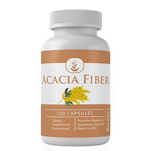 Acacia Fiber (100 Capsules, 1760 mg Serving) by Pure Organic Ingredients, Natural Prebiotic Dietary Supplement, Promotes Healthy Bowel Function*
